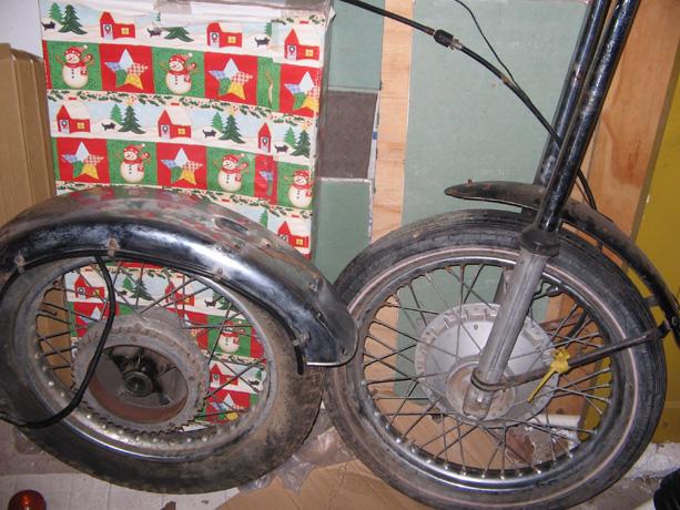 BSA A65 Lightning Motorcycle Wheels