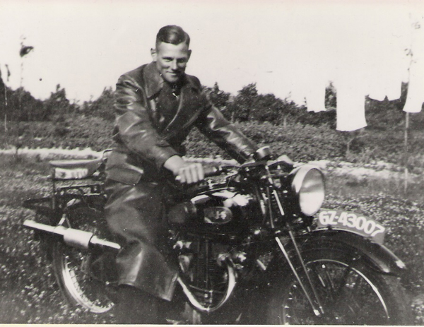 AJS Twin Motorcycle