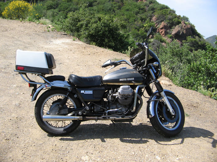 Moto Guzzi V1000 Convert in the mountains